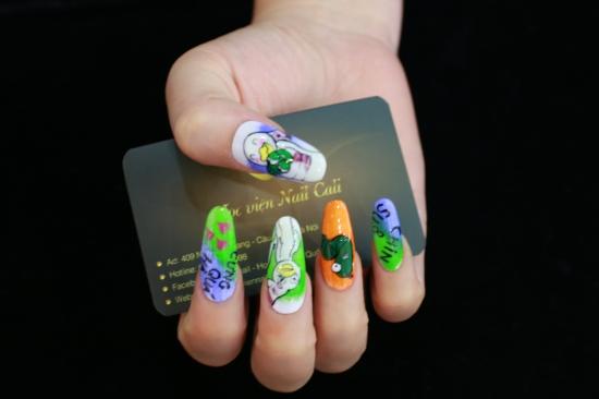 cách vẽ móng tay Chin&Su đơn giản