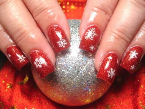 mẫu nail đẹp ấn tượng cho mùa Giáng sinh lunh linh