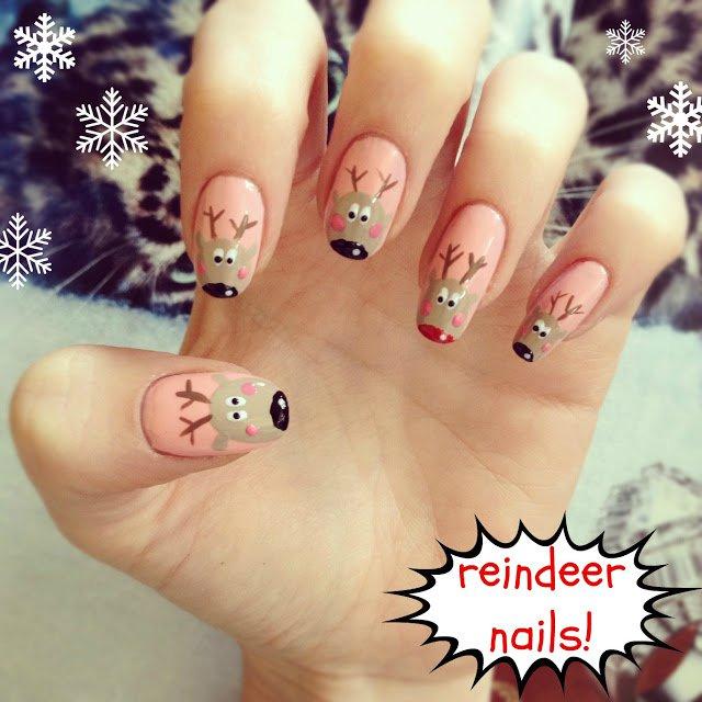 mẫu nail đẹp cho mua Noel