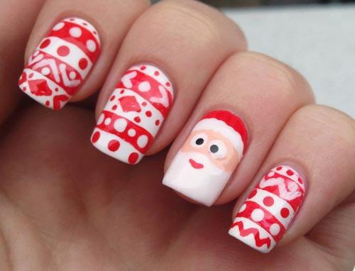 mẫu nail đẹp ấn tượng cho mùa Giáng sinh