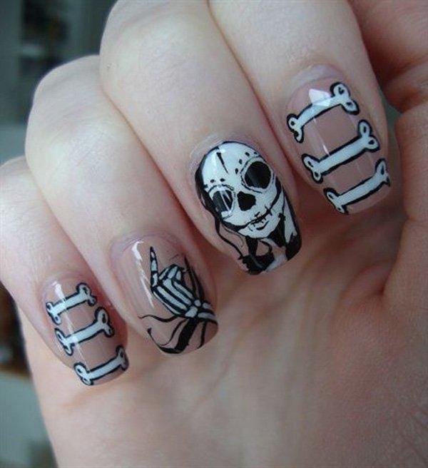 mẫu nail đẹp mùa Halloween