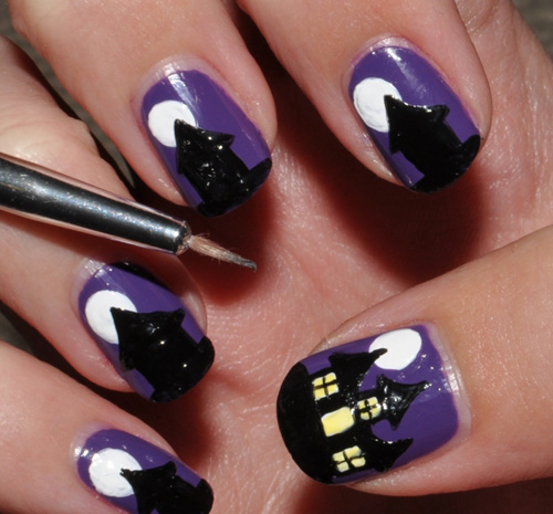 mẫu nail đẹp ma mị cho Halloween