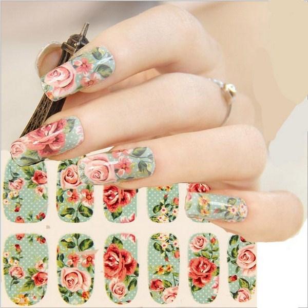 mẫu nail đẹp theo phong cách vintage 1