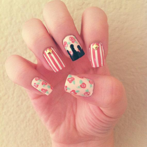 mẫu nail đẹp theo phong cách vintage 6