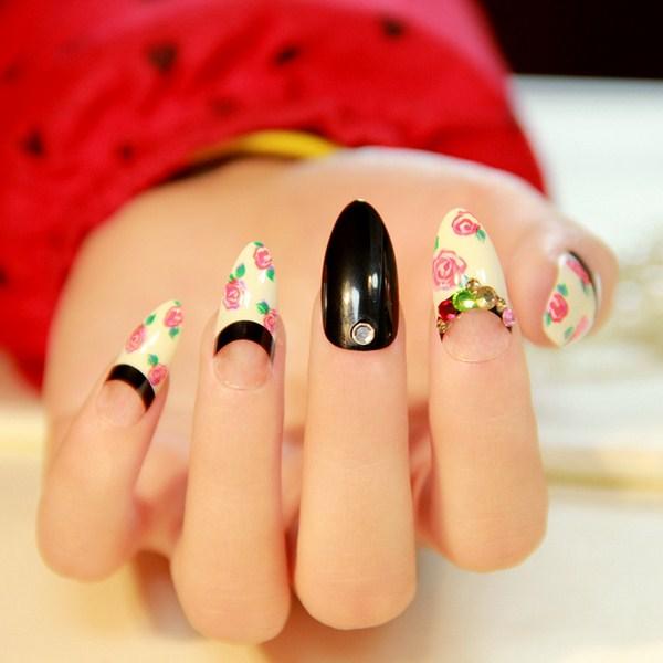 mẫu nail đẹp theo phong cách vintage 7