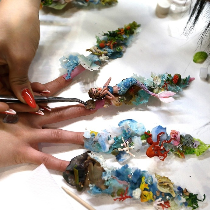 top mẫu móng tay ấn tượng từ cuộc thi Nailympia 4