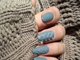 Học làm móng tay họa tiết len ấm áp cho mùa đông